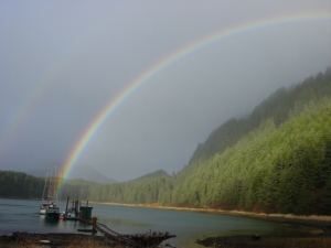 The dock of the Hobbit Hole, at the end of the rainbow.