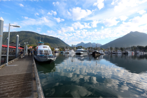 Harbor in the town of Sitka.  Photo by Rob Dunbar.