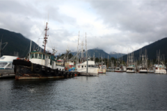 Fishing Boats at the Sitka waterfront.  Photo by Rob Dunbar.
