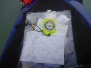 My compass and chart, bearing me through this morning's fog.  It ain't fancy, but it gets the job done.