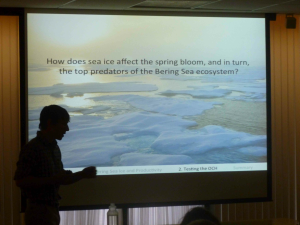 Zach speaks at Stanford University about Arctic climate change.